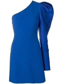 David Koma one shoulder gigot dress - Blue