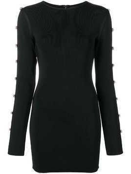 David Koma oversized crystal embellishments dress - Black