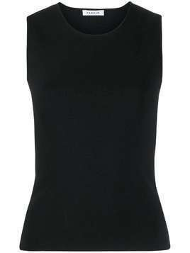 P.A.R.O.S.H. Rok knitted vest top - Black