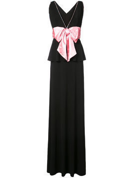 Gucci bow detail evening dress - Black