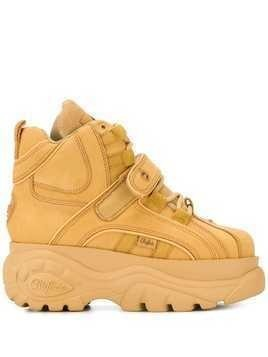 Buffalo high-top platform trainers - Yellow