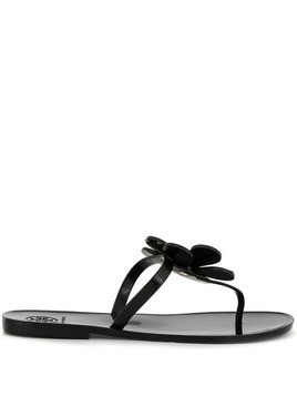 Tory Burch Flower jelly sandals - Black