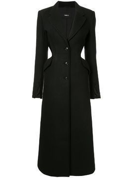 Yang Li tailored cut-out coat - Black