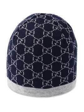 Gucci Kids Children's GG pattern wool hat - Blue