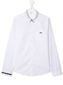 Boss Kids TEEN contrast detail shirt - White