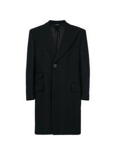 Versace Vintage single breasted coat - Blue