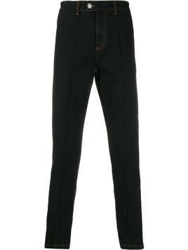 Gcds appliqué side stripe trousers - Blue