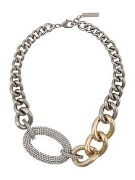 Ermanno Scervino crystal chain link necklace - Silver