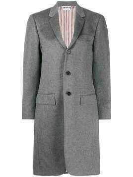 Thom Browne single-breasted wool coat - 035 MED GREY