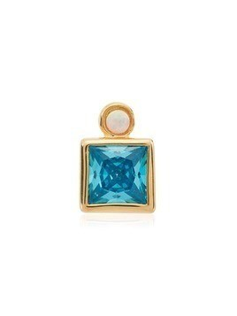 Anni Lu Blue Bling gold plated crystal stud - Metallic