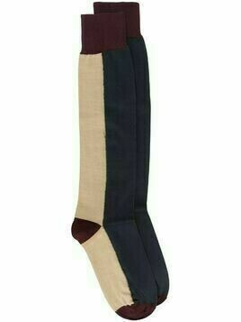 Marni two-tone long socks - Brown