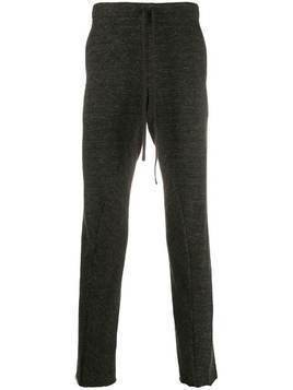 Forme D'expression drawstring waist track pants - Brown