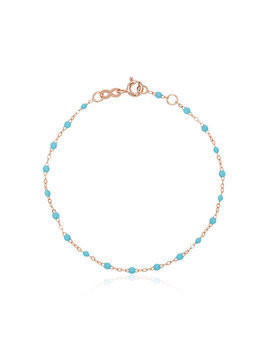 Gigi Clozeau 18k rose gold blue beaded bracelet