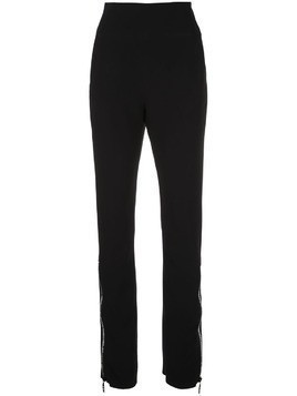 David Koma zipped hem trousers - Black