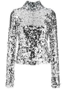 Mm6 Maison Margiela turtleneck sequin blouse - Metallic