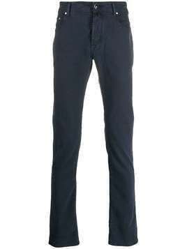 Jacob Cohen straight-leg pocket square trousers - Blue
