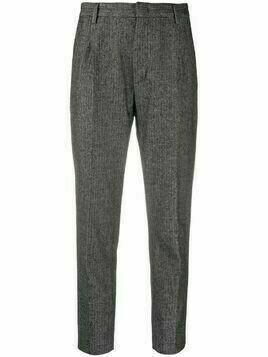 Dondup herringbone-pattern trousers - Black