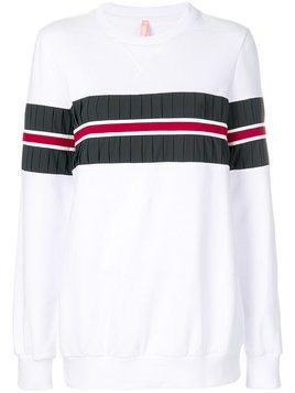 No Ka' Oi pleated detail sweatshirt - White