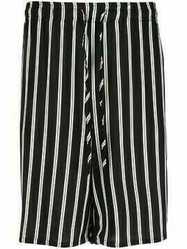 Esteban Cortazar striped Bermuda shorts - Black