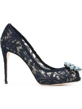 Dolce & Gabbana embellished lace pumps - Blue