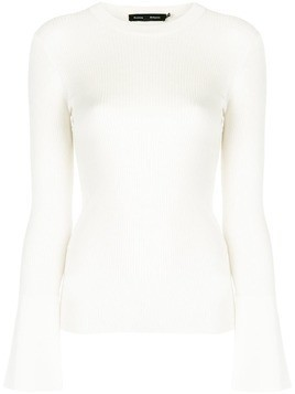 Proenza Schouler fitted silhouette top - White