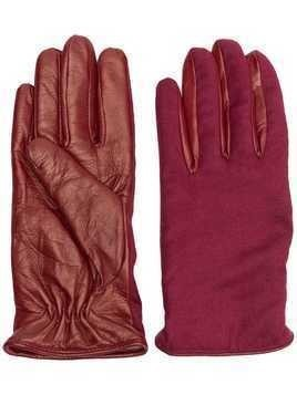 Fabiana Filippi panelled gloves - Red