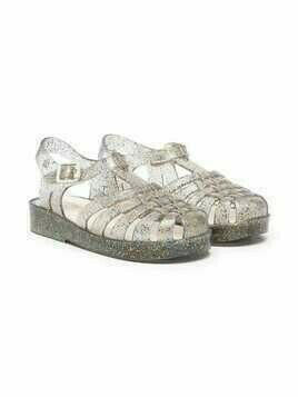 Mini Melissa Possession glittery jelly shoes - Grey