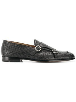 Doucal's woven monk shoes - Black