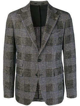 Tagliatore check blazer jacket - Black