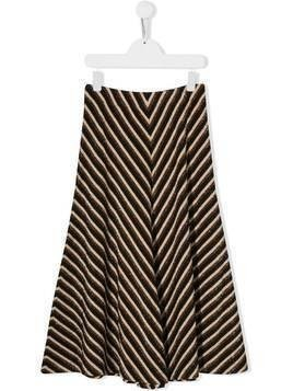 Caffe' D'orzo TEEN metallic striped skirt - Black