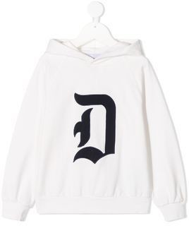 Dondup Kids graphic long-sleeve sweatshirt - White