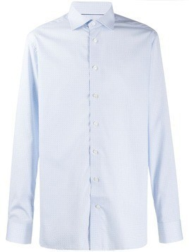 Eton geometric pattern shirt - Blue