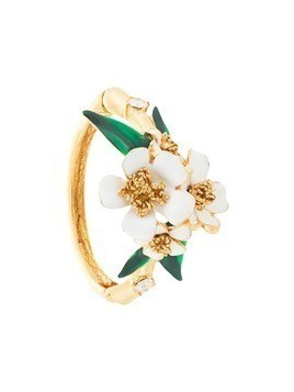 Oscar de la Renta flower bangle - Metallic