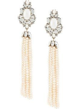Marchesa bohemian dream tassel earrings - White