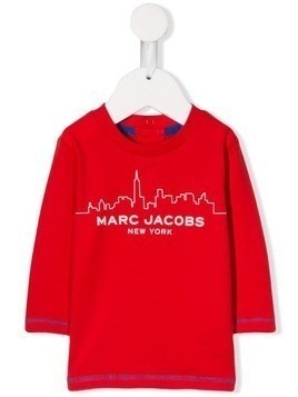 Little Marc Jacobs city skyline print T-shirt - Red
