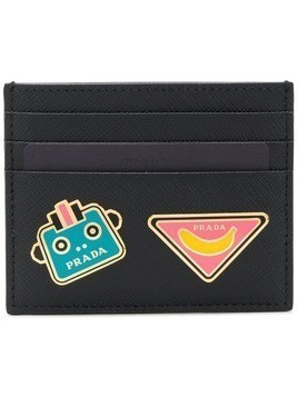Prada leather card holder - Black
