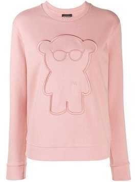 Emporio Armani embroidered sweatshirt - Pink