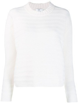 Allude ribbed sweatshirt - White