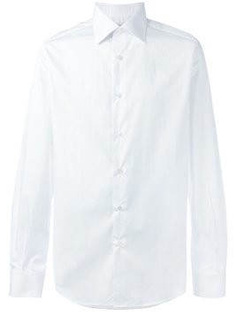 Fashion Clinic Timeless classic buttoned shirt - White