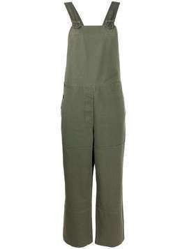Margaret Howell loose-fit panelled overalls - Green