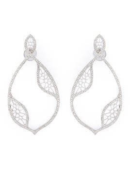 Joëlle Jewellery diamond teardrop earrings - Metallic