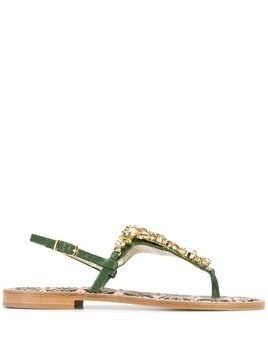 Emanuela Caruso embellished open-toe sandals - Green