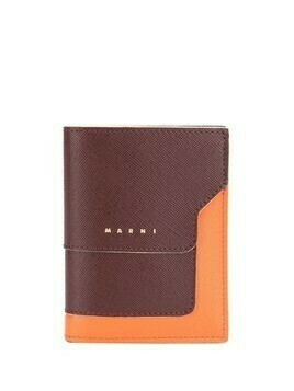Marni colour-block bifold wallet - Brown
