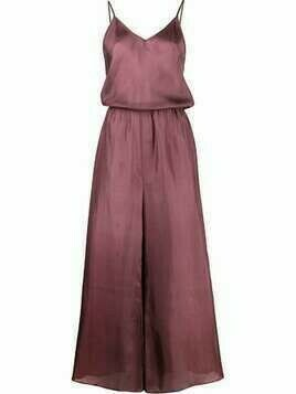 Mes Demoiselles Boukhara silk jumpsuit - Purple
