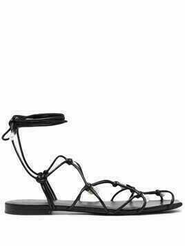 Altuzarra pearl-detail flat sandals - Black