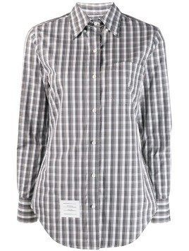 Thom Browne check-print shirt - Grey