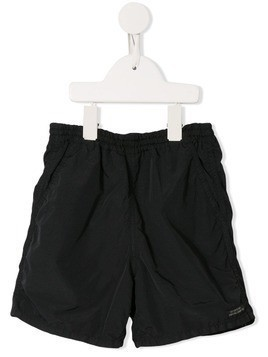 Denim Dungaree relaxed shorts - Black