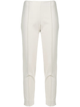 Le Tricot Perugia slim-fit tailored trousers - Neutrals