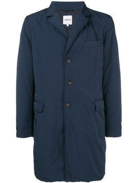 Aspesi button-up parka coat - Blue