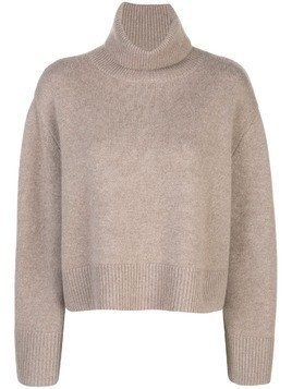 Co boxy fit turtle neck jumper - Brown